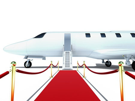 plane and red carpet