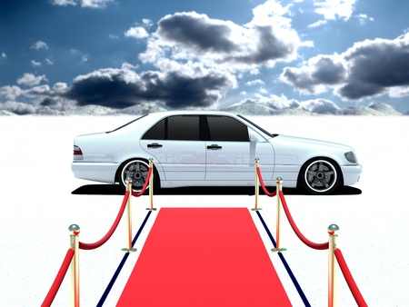 car and red carpet photo