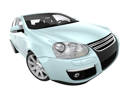 3d car isolated on white