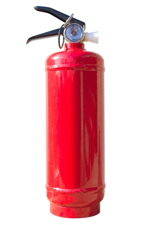 extinguisher isolated on white