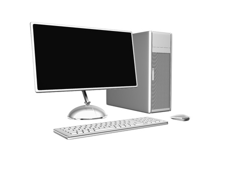 3d pc isolated on white Stock Photo - 14691653
