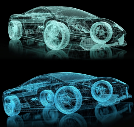 3d car wire photo