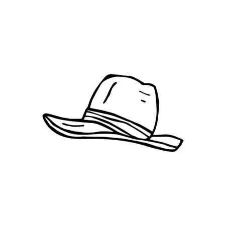 clothes are a hat. eps10 vector illustration. hand drawing. art line