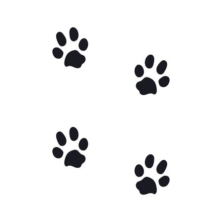 footprints from a large dog. eps10 vector stock illustration Vecteurs
