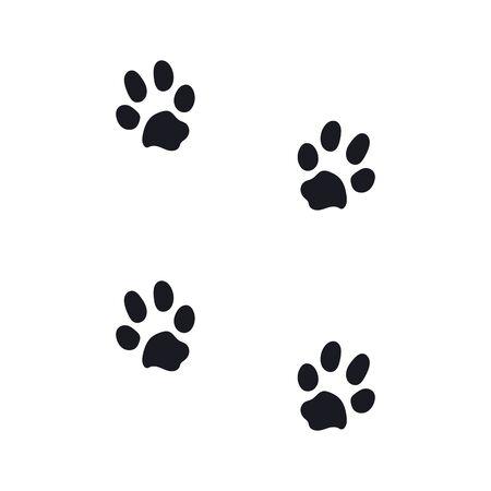 footprints from a large dog. eps10 vector stock illustration Vektorgrafik