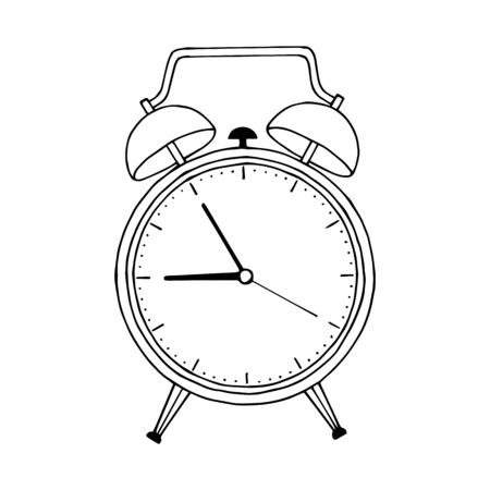 alarm clock. eps10 vector stock illustration. out line