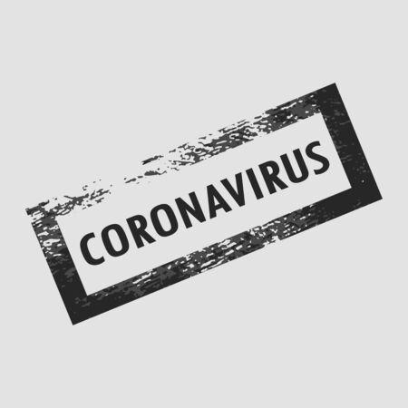 CORONAVIRUS. rectangular frame, print.