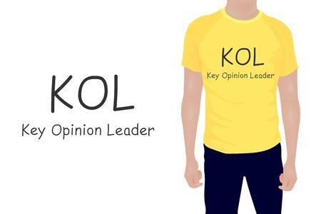 Key Opinion Leader frase. T-shirt inscription. vector illustration eps10 of business acronym term KOL