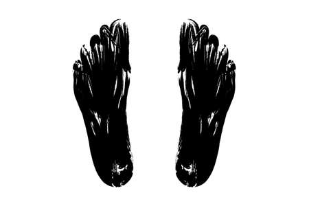 silhouette of foot on a white background isolate illustration