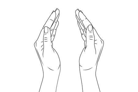Women's hands. Vector stock illustration eps10. Isolate on white background
