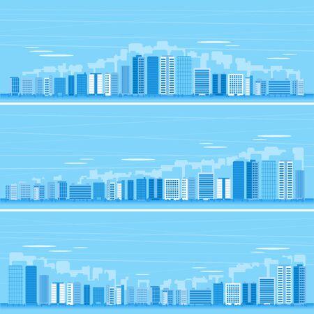 Lots of buildings,Background material 矢量图像