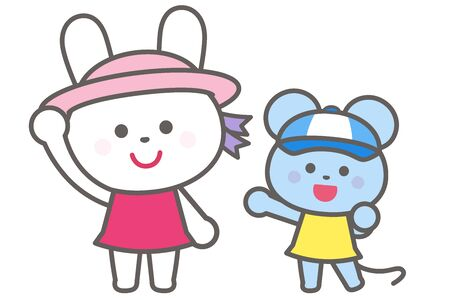 Prevention of heat stroke / Wear a hat / Rabbit and mouse