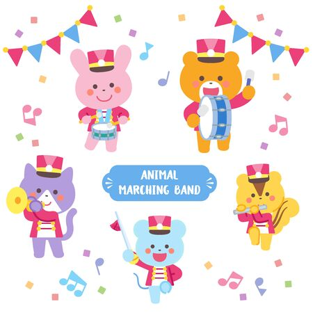 Animal marching band Character Set