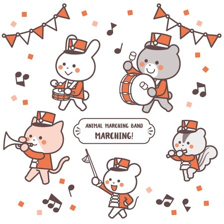 Animal marching band ,Marching Character Set / Two Colors