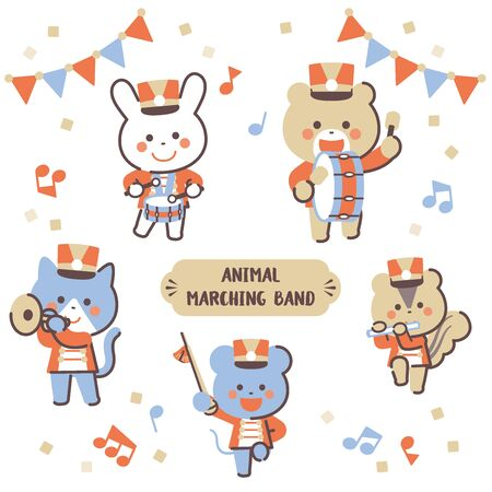 Animal marching band Character Set / Four Colors