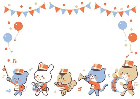 Animal marching band Marching Character Frame / Four Colors