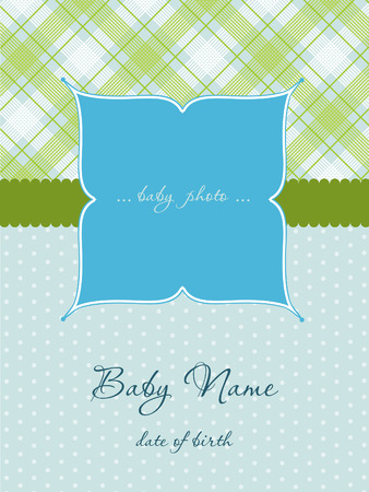 arrival: Baby Boy Arrival Card with Frame