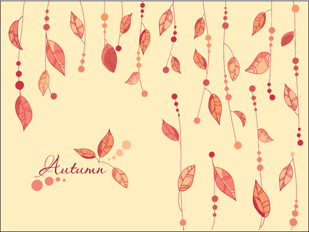 Autumn Leaves Background Stock Vector - 8794382