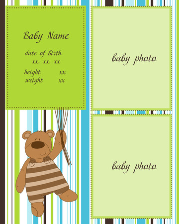 Baby Arrival Card   Stock Vector - 8910808