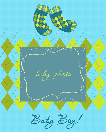 Baby Arrival Card Stock Vector - 8919098