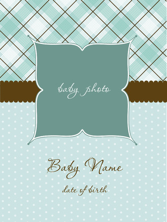 Baby Arrival Card Stock Vector - 8910823