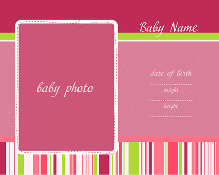 Baby Arrival Card Stock Vector - 8919045