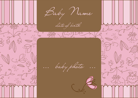 Baby Arrival Card  Stock Vector - 8919112