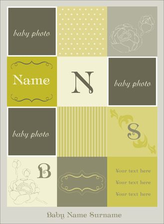 Baby Arrival Card  Stock Vector - 8919096