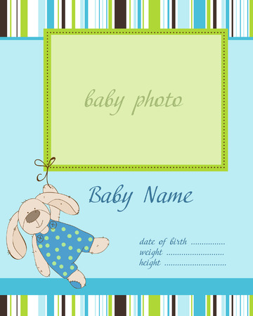 the lovely boy: Baby Boy Arrival Card with Frame