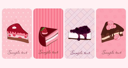 Set of Banners with Sweet Cakes Stock Vector - 8919120