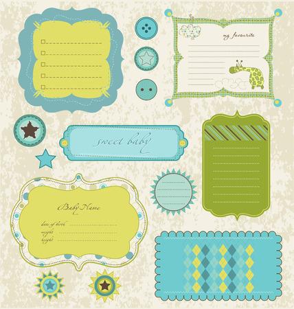 scraps: Design elements for baby scrapbook