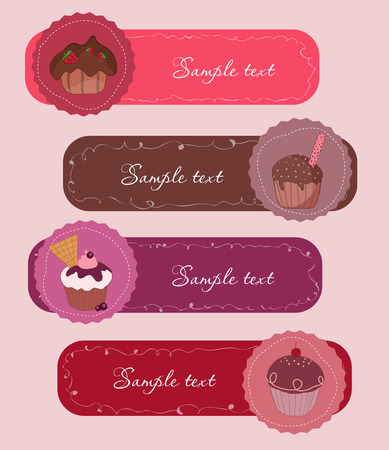 hapiness: Set of Cupcakes Banners