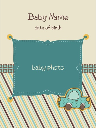 Baby Arrival Card with Photo Frame in vector Vector