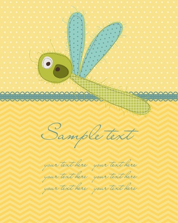 Greeting baby card  in vector Vector