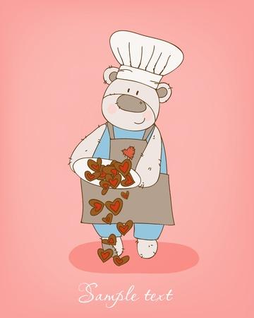 cheff: Romantic love card in vector