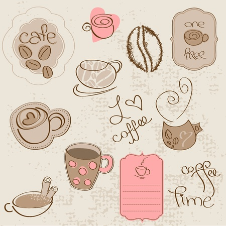 Vector set: Coffee design elements  in vector Stock Vector - 9141448