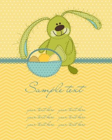 Easter Bunny Card Vector