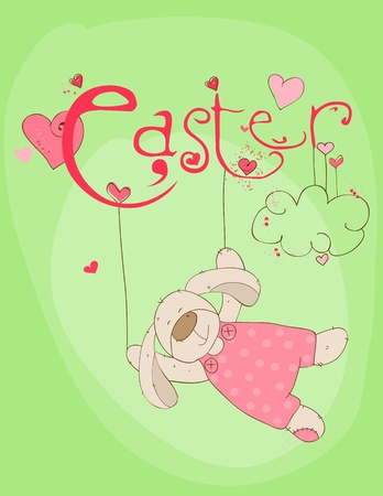 Cute Easter Rabbit Vector
