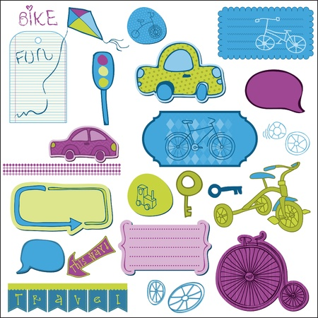 Design elements for baby scrapbook  Stock Vector - 9227980