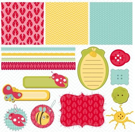 Design elements for baby scrapbook Stock Vector - 9253001
