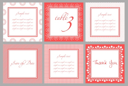 Invitation card template for wedding, birthday, anniversary Stock Vector - 9253004