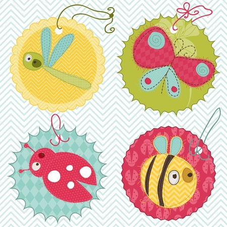 baby stickers: Design elements for baby scrapbook