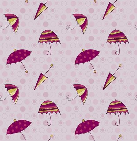 Umbrella seamless background Vector