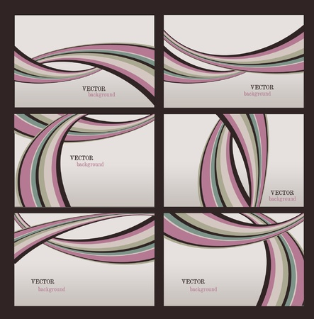 Illustration with twisted stripes backgrounds Vector
