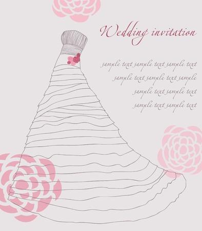 cüppe: Wedding dress invitation card Çizim