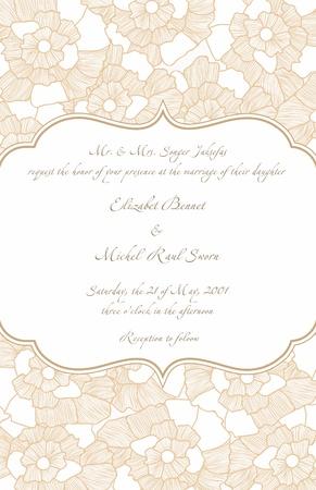 Wedding Card in Retro Design