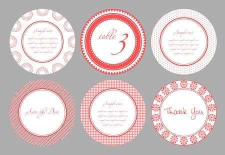 Invitation card template for wedding, birthday, anniversary Stock Vector - 9300029
