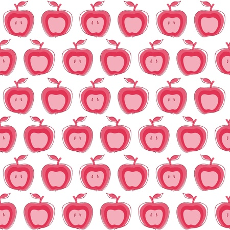 apple slice: Apple Seamless background Illustration