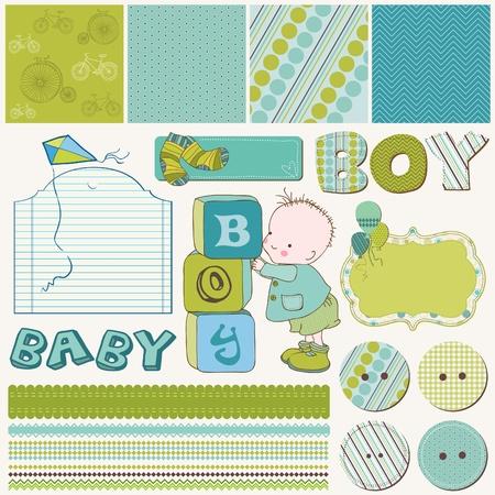scraps: Scrapbook Boy Set - design elements