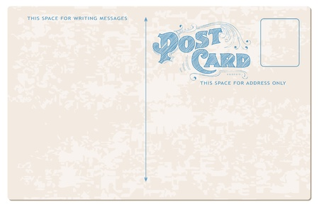 Antique postcard in vector - see more in my profile Stock Vector - 9809761
